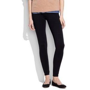 Madewell Black Skinny Ponte Ankle Zip Pants